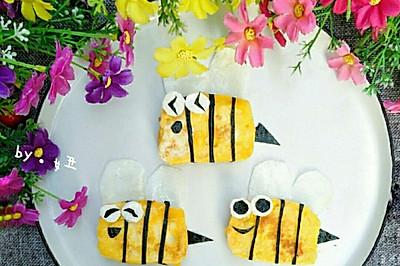 可爱的小蜜蜂煎馒头片,宝宝一定喜欢