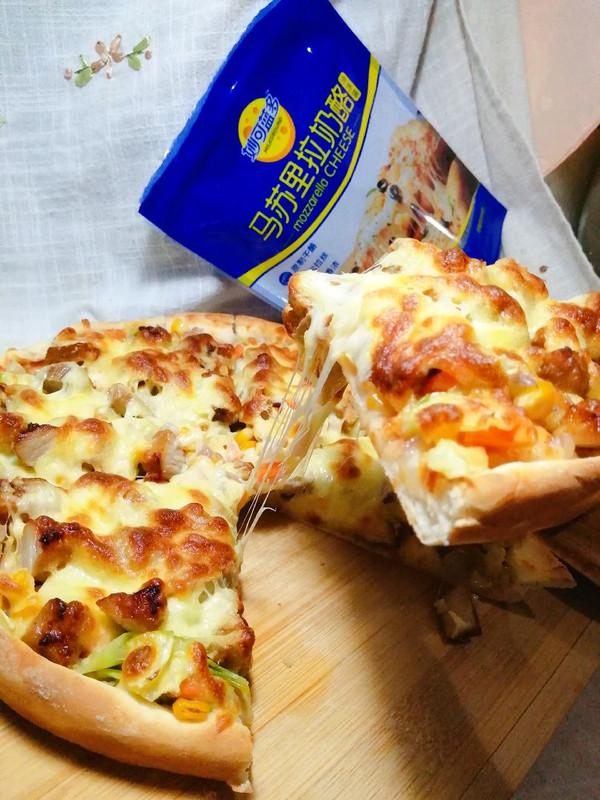 时蔬薄底披萨
