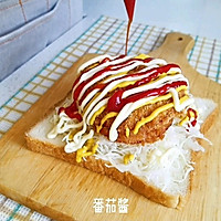 炸火腿三明治#丘比三明治#的做法图解10
