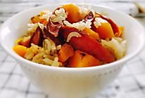 南瓜香肠焖饭--一顿只要十分钟的饭菜,分分钟解救单身汪!的做法