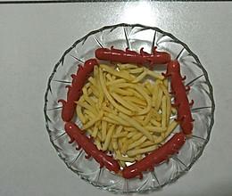 空气翻炸锅之炸薯条.烤肠炸虾的做法
