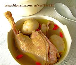 芋艿枸杞鸭子汤的做法