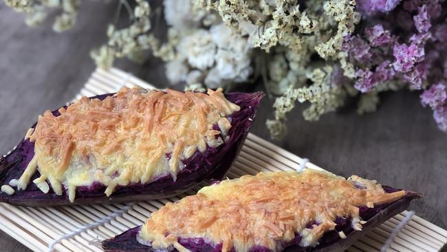 芝士焗紫薯的做法