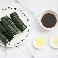 健康美味快手菜,酸爽脆口的刀拍黃瓜的做法圖解4