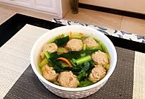 小白菜肉丸汤的做法