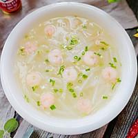 #下饭红烧菜#清淡甘甜的虾仁白萝卜汤的做法图解5