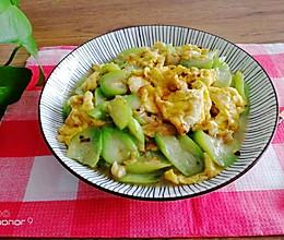 #助力高考营养餐#低脂美味的丝瓜炒鸡蛋的做法