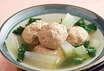 冬瓜汤汆羊肉丸子的做法