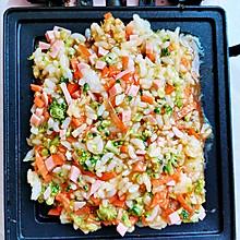 剩米饭做的美食:米饭鸡蛋蔬菜饼