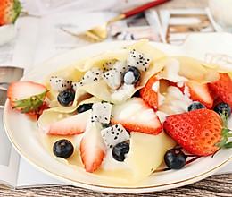 水果可丽饼 宝宝甜品的做法