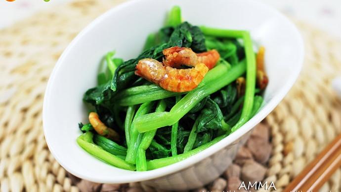 一款应季的塑身减肥快炒——海米菠菜
