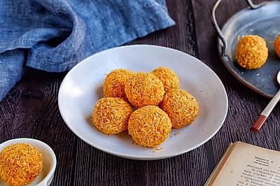 黄金燕麦红薯球(空气炸锅版)#做道懒人菜,轻松享假期#