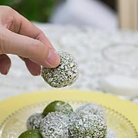 花生牛奶糯米糍椰蓉球的做法图解15