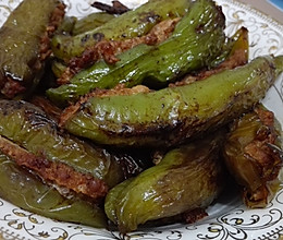 超下饭的尖椒盒/虎皮青椒酿肉的做法