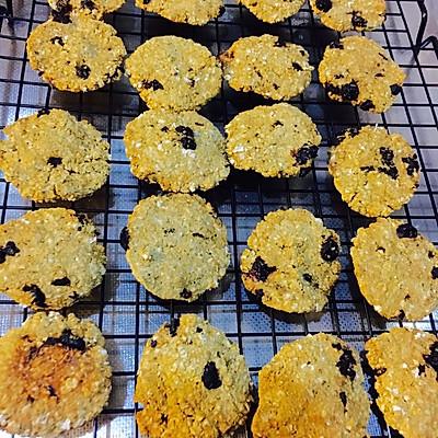 蓝莓燕麦饼干(无油无糖 低卡低脂)
