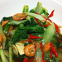 虾干小白菜的做法图解3