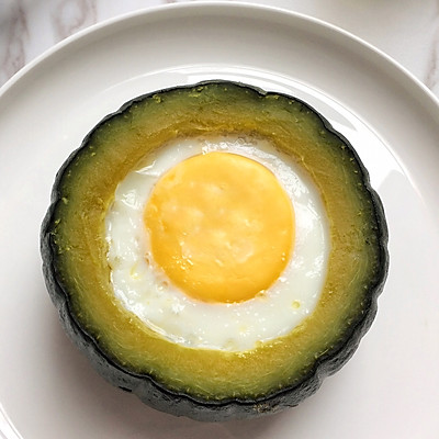 """有内涵的贝贝南瓜窝蛋#在""""家""""打造ins风美食#的做法 步骤10"""