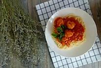 鸡肉丸番茄意面的做法