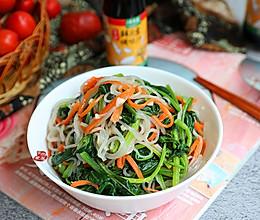 #春日时令,美味尝鲜#菠菜拌粉条的做法