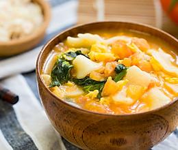 豌豆苗片儿汤的做法