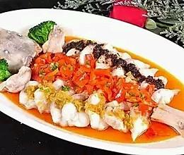 三味蒸鮰鱼的做法