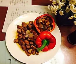 黑胡椒杏鲍菇牛肉粒的做法