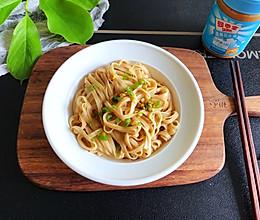 #四季宝蓝小罐#花生酱拌面的做法