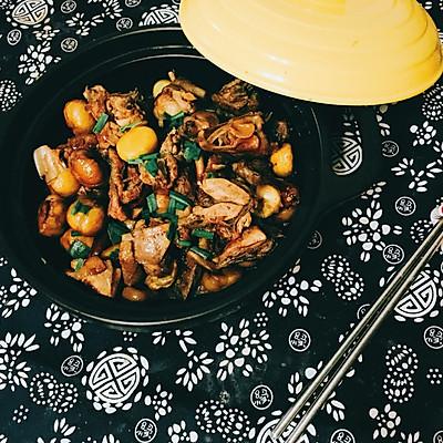 板栗炖鸡煲--秋风起,吃栗子