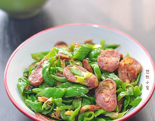超级下饭菜——青椒炒腊肠