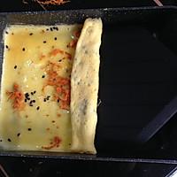 芝士肉松厚蛋烧的做法图解5