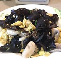 家常菜——木耳口蘑炒鸡蛋的做法图解6
