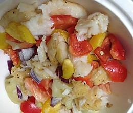 低脂晚餐----烤鱼沙拉的做法