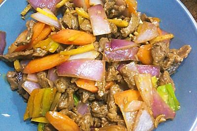 五彩黑椒牛肉粒