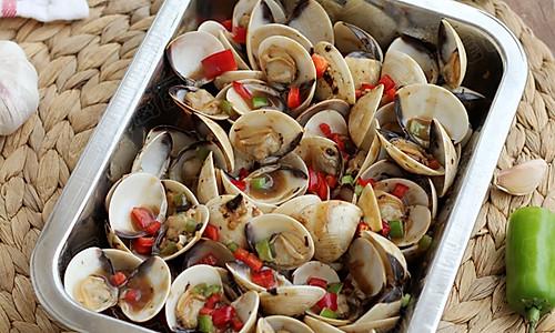 豉椒蒸文蛤的做法