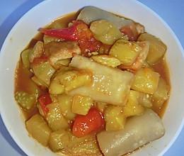 山西美食-莜面栲栳栳/莜面窝窝(茄子西红柿版)的做法