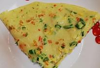 #换着花样吃早餐#芦笋胡萝卜玉米鸡蛋饼的做法