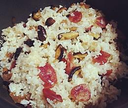 香菇腊肠饭的做法