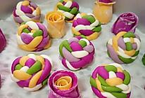 南瓜紫薯花样馒头的做法