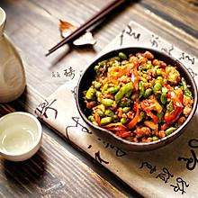 家常菜-辣椒毛豆炒肉沫