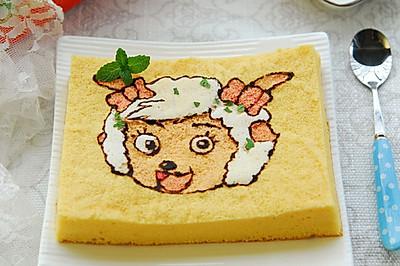 洋洋得意的美羊羊蛋糕