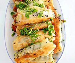 韭菜素锅贴的做法