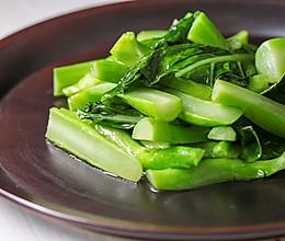 芥蓝两吃:广东人会吃,烧个青菜清甜爽的做法
