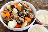 双色萝卜炖羊排的做法