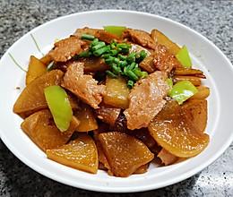 午餐肉烧白萝卜的做法