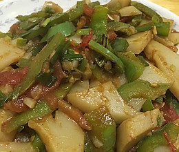 青椒炒碗托的做法