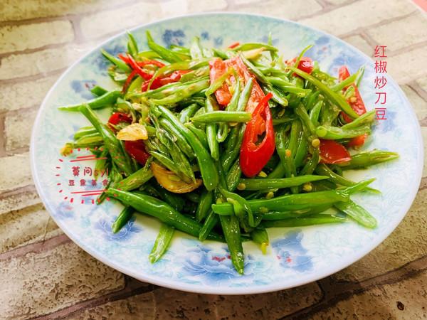 餐桌上的春日限定#红椒炒刀豆的做法