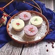 #年味十足的中式面点#双色豆沙小松糕