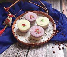 #年味十足的中式面点#双色豆沙小松糕的做法