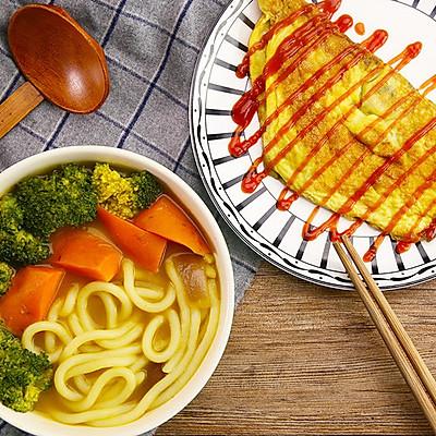 超快蔬菜咖喱乌冬面 | 太阳猫早餐