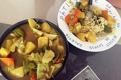 蔬菜咖喱饭